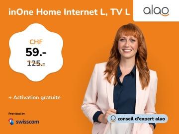 alao mobile : Swisscom inOne Home Internet L & TV L pour seulement CHF 59.-