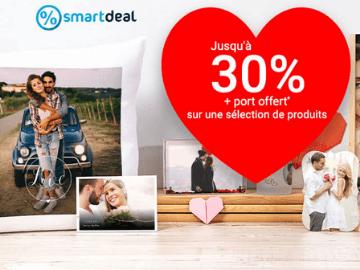 Code promo Smartphoto : -30% et livraison gratuire dès CHF 50.- pour la Saint-Valentin
