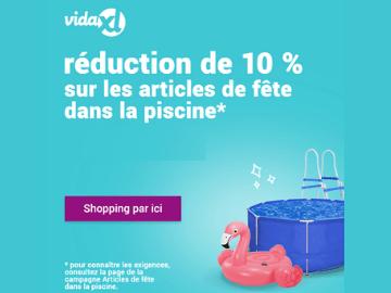 Code promo VidaXL : 10% de réduction sur les accessoires de piscine