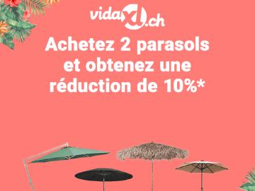 Code promo VidaXL : 10% de réduction sur les parasols