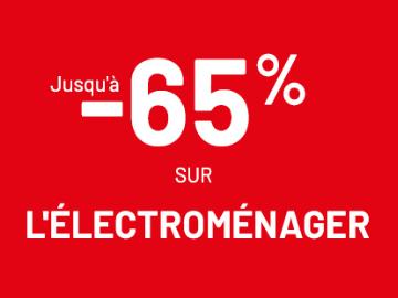 Promo Conforama : jusqu'à 65% de remise sur l'électroménager