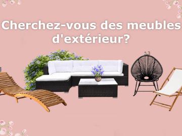 Promo VidaXL : meubles d'extérieur en bois à partir de CHF 45.-